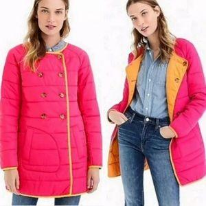 NWT J CREW reversible nylon puffer jacket puffy XS